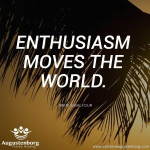 Enthusiasm moves the world