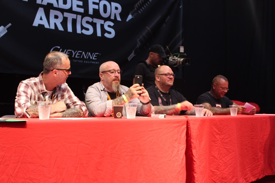 Jury in Berlin Tattoo Convention
